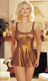 Blonde in gold nightdress/camisole - transgender transsexual cross dresser crossdresser bondage pictures stories fiction story